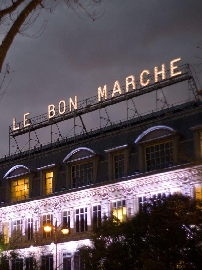 au bon marché, department store, 24 rue de sèvres, paris 75007.
