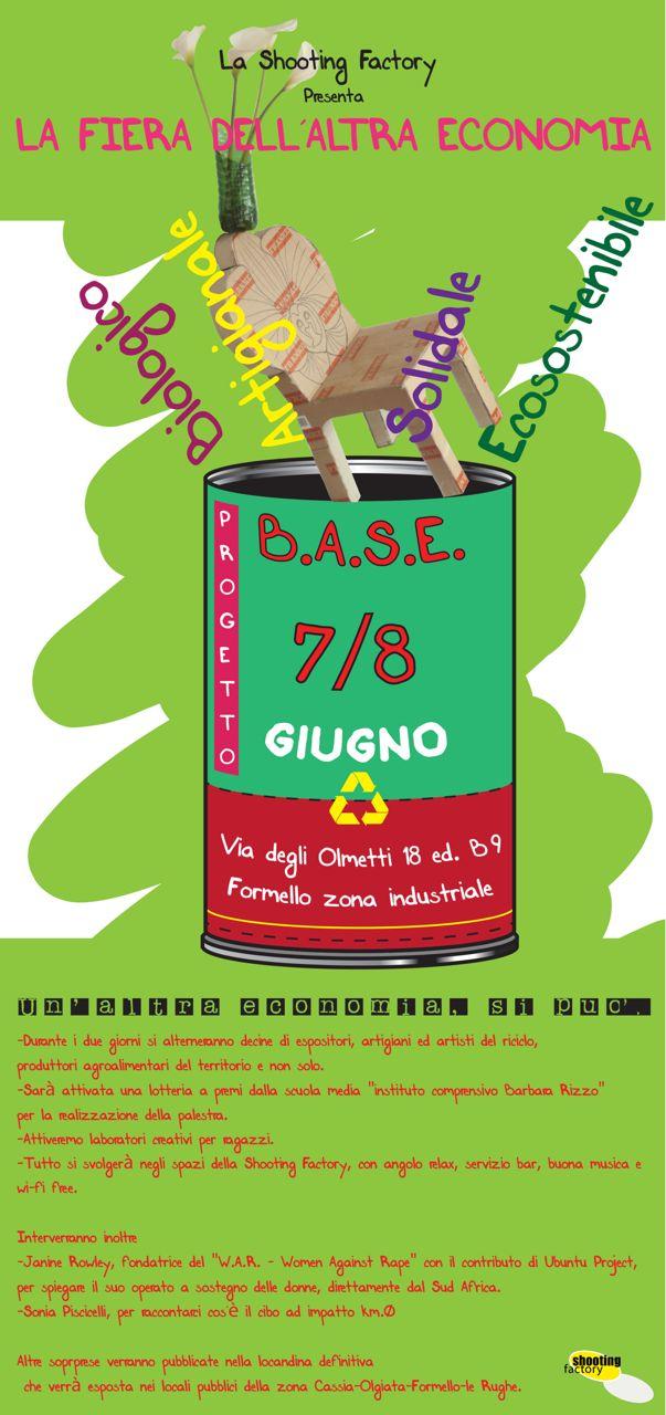 Invito alla mostra mercato organizzata da Shooting Factory a Formello, Roma con la presentazione di Woman Against Rape, supportata da UBUNTU Project