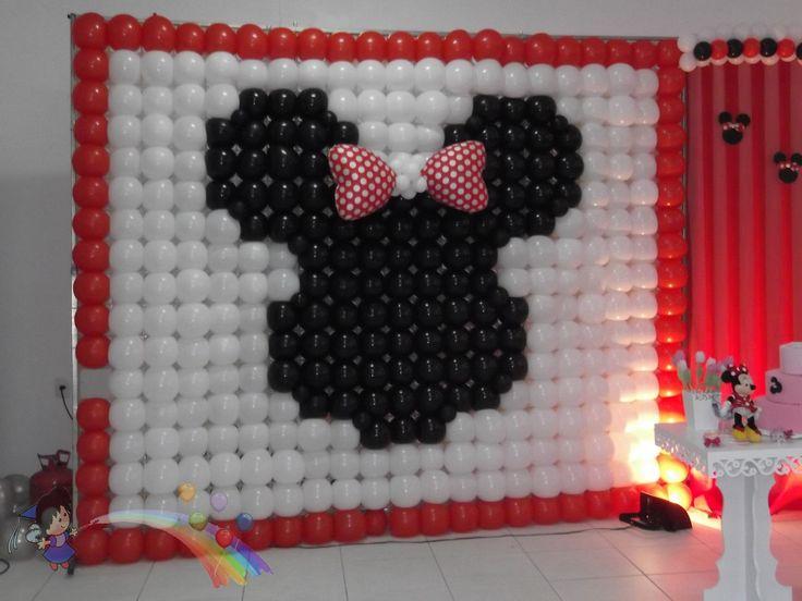 painel de balões Minnie  contato@tudodefestas.com.br
