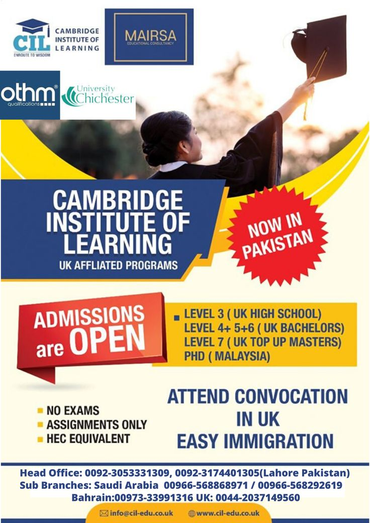 Cambridge Institute of Learning offers UK Qualifications