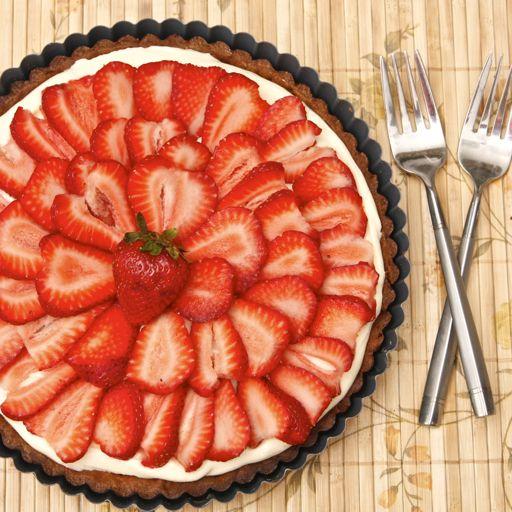 Strawberry cream cheese tart | Recipe