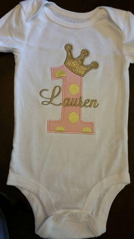 Princess Birthday Onesie or Shirt // Pink by SewAdorablebyHandL