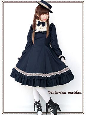 One of Victorian maiden's most popular designs returns for 2016! This classic solid-color dress looks like it's stepped right out of a time machine from Victorian-era Europe - and the quality's there