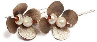 Σκουλαρίκια - Χειροποίητο κόσμημα, σκουλαρίκια ασημένια 925ο με μαργαριτάρια και κρύσταλλα Swarovski. #joy #style #fashion