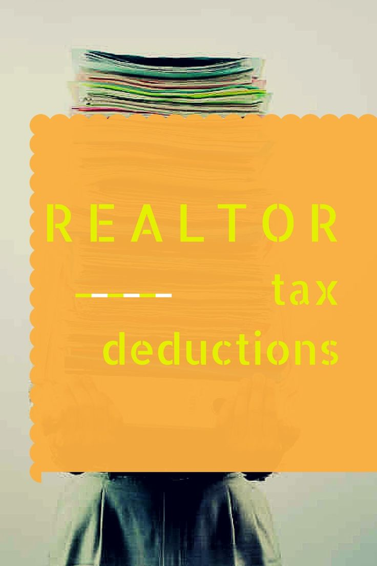 realtor tax deductions 44 best Becoming a