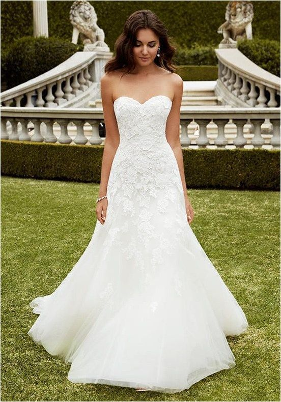 Sweetheart Lace Wedding Dresses (78)