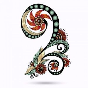 Another paisley tattoo design