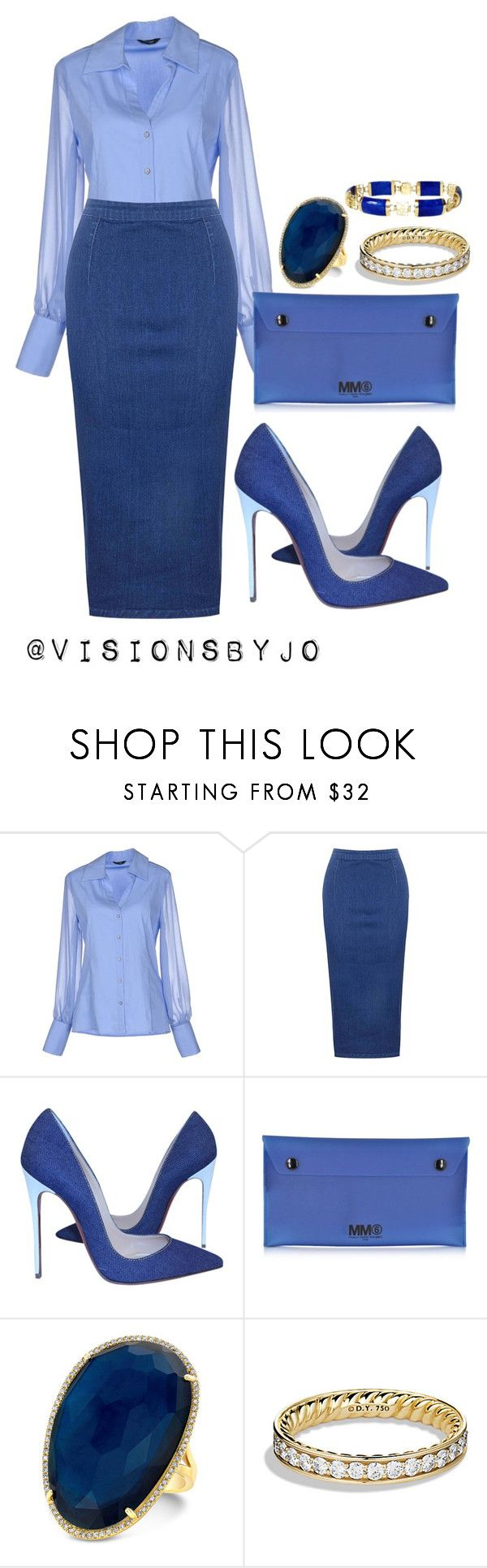 """Untitled #1169"" by visionsbyjo ❤ liked on Polyvore featuring GUESS by Marciano, Glamorous, Christian Louboutin, MM6 Maison Margiela, Anne Sisteron and David Yurman"