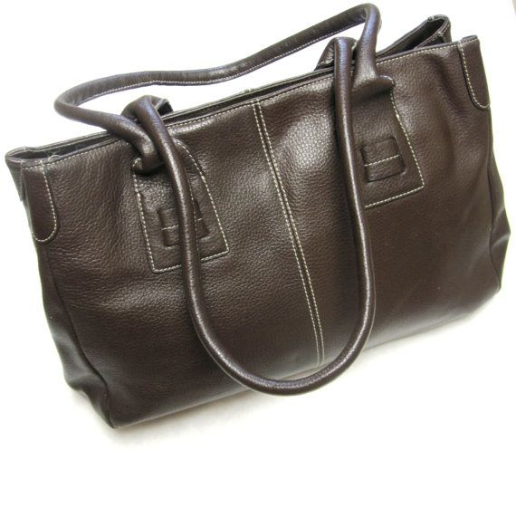 Large Purse I Credi Chocolate Brown Leather by sweetie2sweetie, $42.99