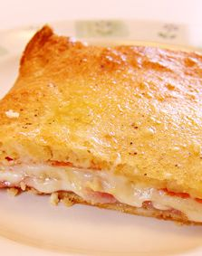 Ham and Cheese Melts. Super easy dinner!