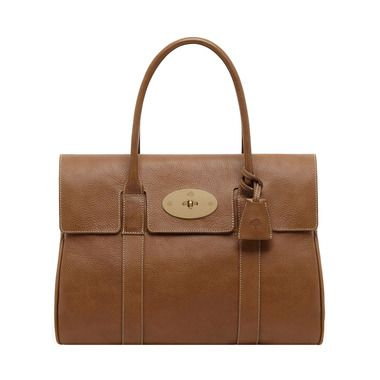 Mulberry - Bayswater in Oak Natural Leather With Brass