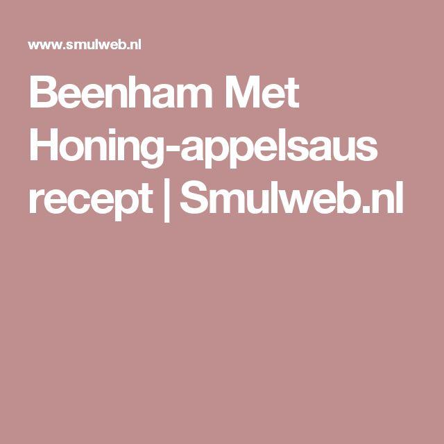 Beenham Met Honing-appelsaus recept | Smulweb.nl
