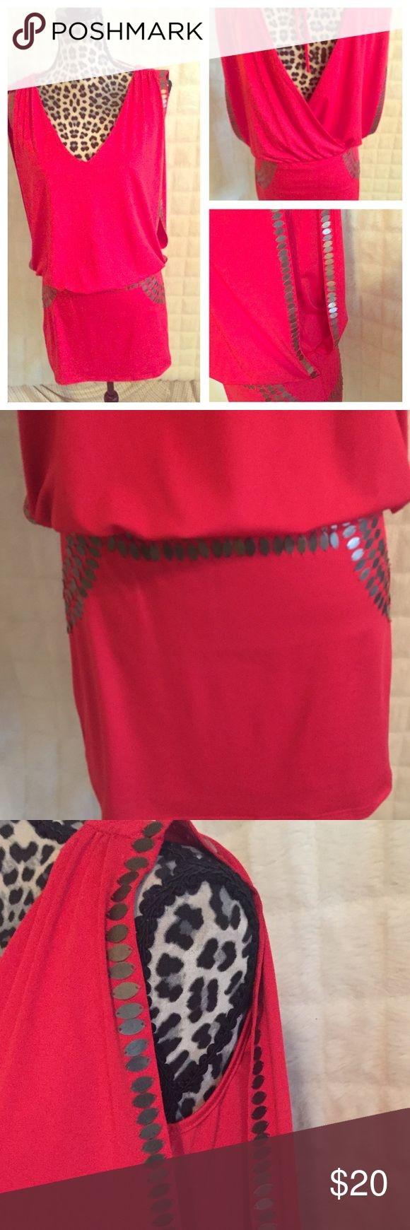 "Sassy Red ""going out"" dress 🔥 This dress is hot. The material is stretchy and very comfortable. Dresses"