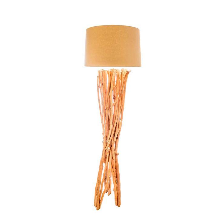 Stunning Stehlampe mit Treibholz Geflecht Schirm Jetzt bestellen unter