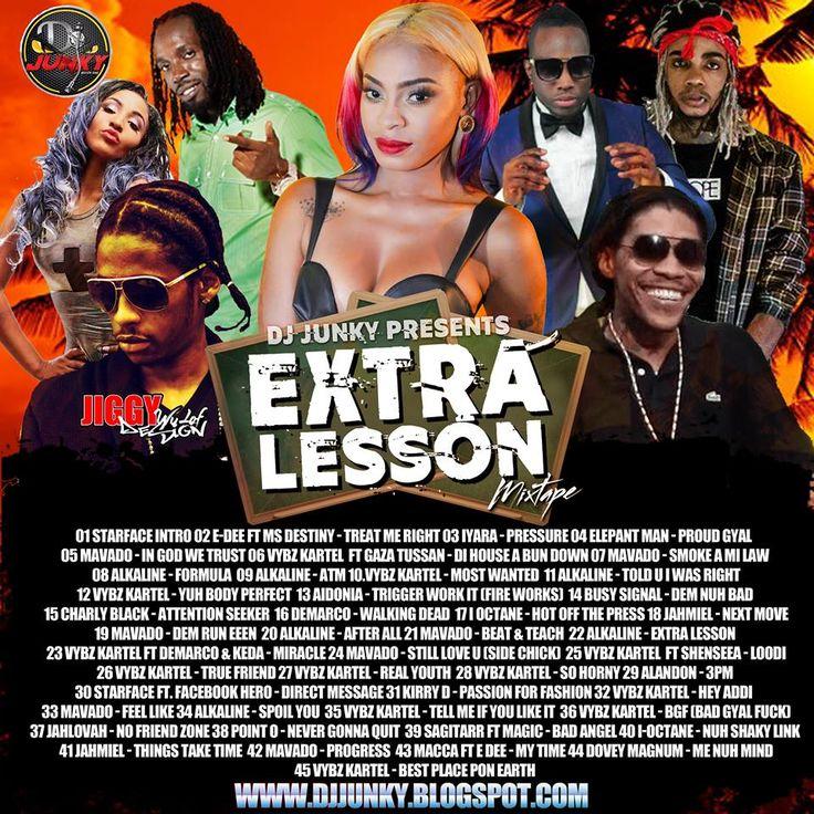 DJ JUNKY  EXTRA LESSON DANCEHALL MIXTAPE 2K16