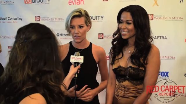 Charissa Thompson and Tracey Edmonds, co-hosts for Extra talk to the Red Carpet Report about empowering women in media at the #awmsocal #GeniiAwards https://www.youtube.com/watch?v=9XhjMwE_Fe0&list=PLyOTC_NMKsADzt8g0L8yxmnc6wfbphjQM&index=1