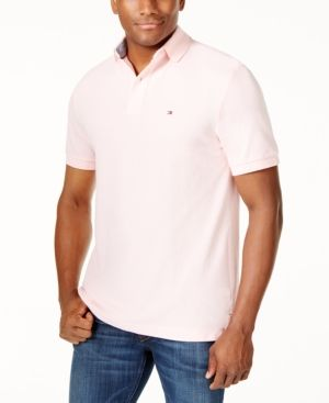 Tommy Hilfiger Men's Classic-Fit Ivy Polo - Pink 2XL