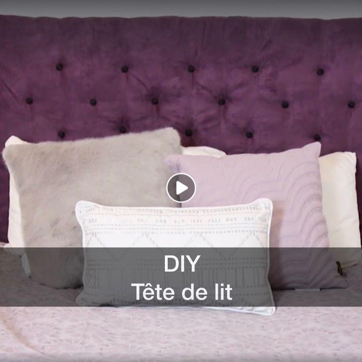 Diy Tête de lit capitonnée à partir d'un pegboard #pegboarddiy #diy #doityourself #tetedelit #purplebedroom #video #diyvideo #headboard