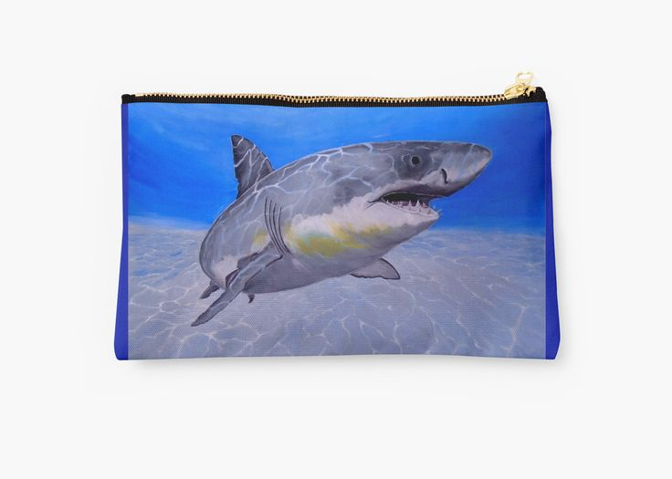 Gifts for animal, shark, lovers, Studio Pouch