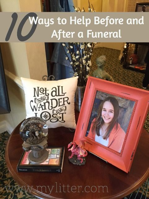 10 Ways to help at a funeral