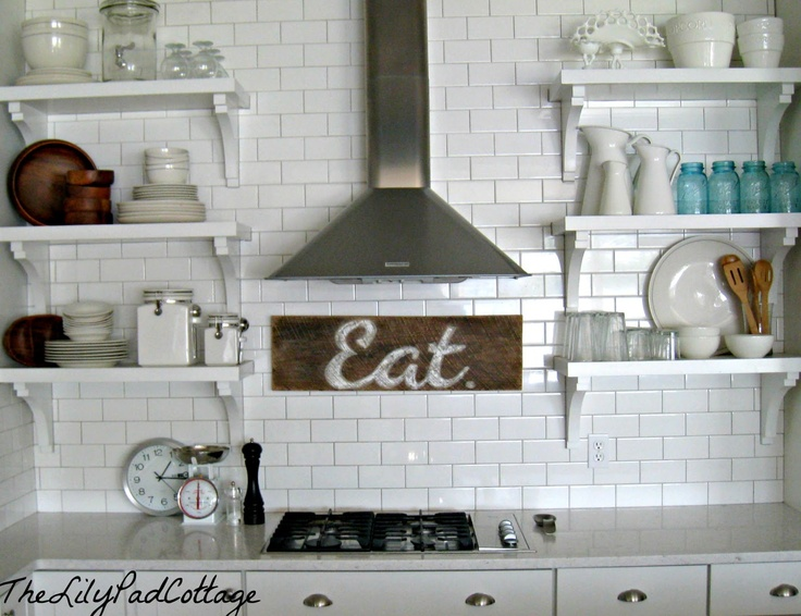 I love these shelves for somewhere in the kitchen