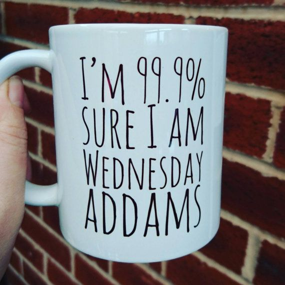 Wednesday Addams themed mug 11oz by PrintsmadewithLOVE on Etsy