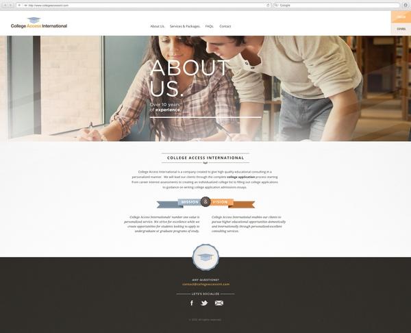 Web Development / College Access International by Manuel Navarro Orozco, via Behance