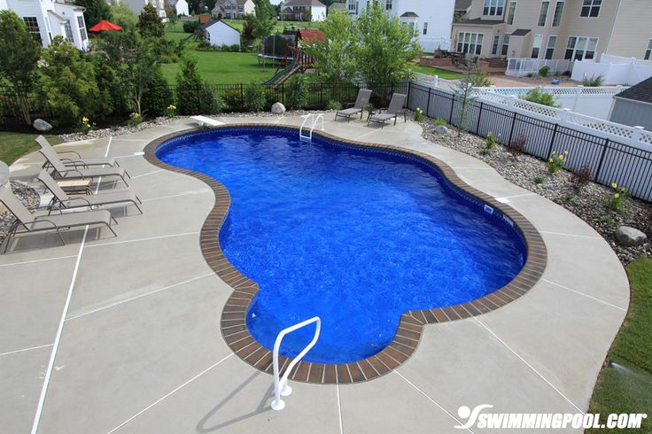 Vinyl free form swimming pool pool for Swimming pool design xls