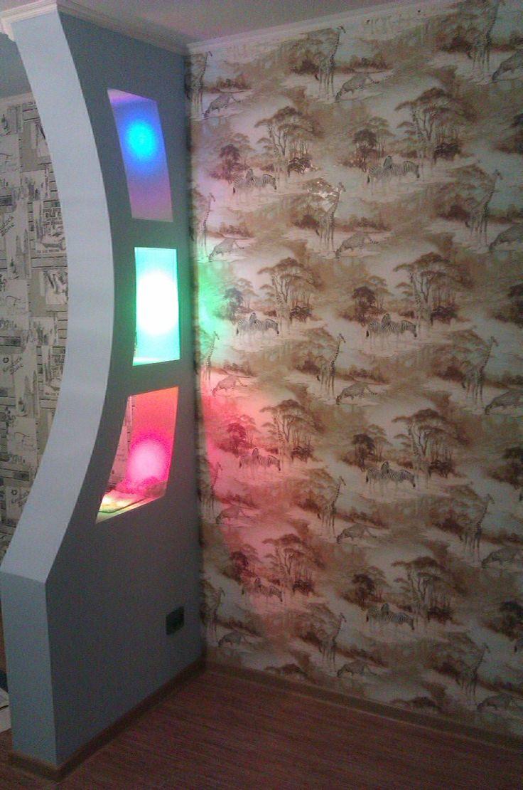 Колонна для отделения детской кровати от основной зоны комнаты.