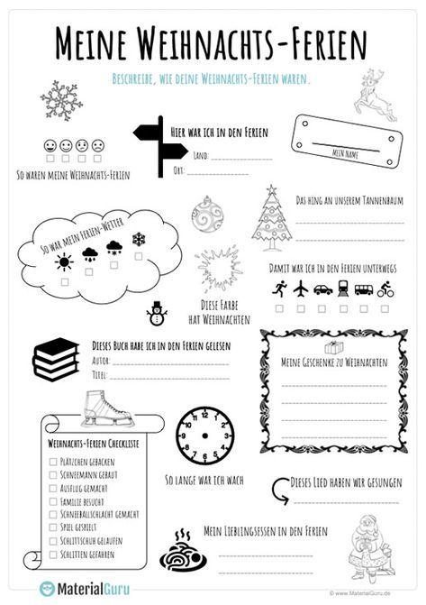 Ein kostenloses Arbeitsblatt zu den Weihnachtsferi…