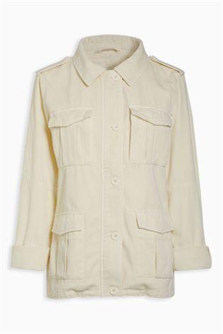 Песочный Куртка в стиле милитари