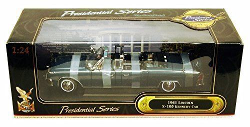 1961 Lincoln X100 Kennedy Limousine, Dark Blue   Road Signature 24048   1/24 Scale Diecast Model Toy Car. #Lincoln #Kennedy #Limousine, #Dark #Blue #Road #Signature #Scale #Diecast #Model