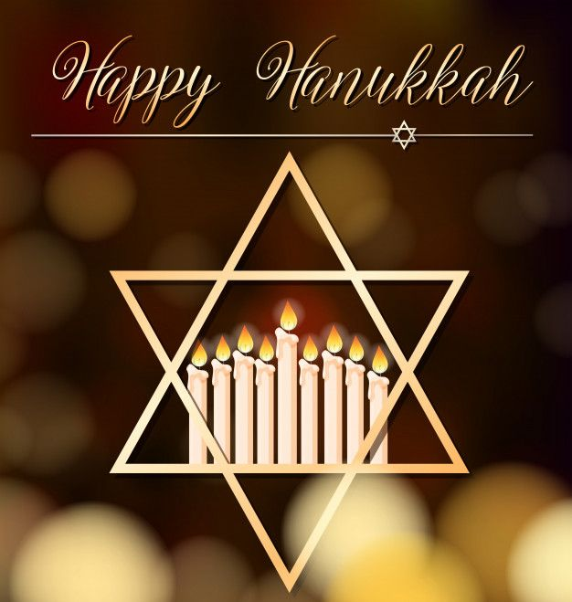 Download Happy Hanukkah Card Template With Light And Star Symbol For Free Happy Hanukkah Hanukkah Christmas Table Decorations