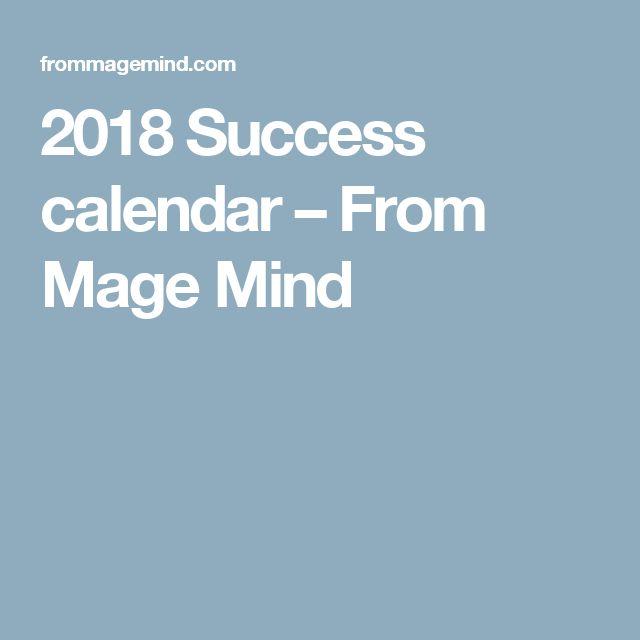 2018 Success calendar – From Mage Mind