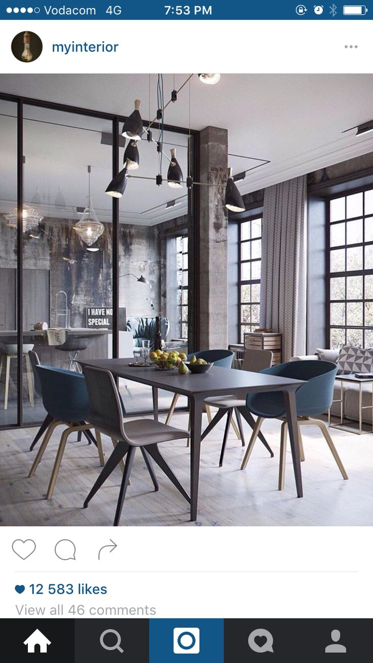 Love this modern dining space