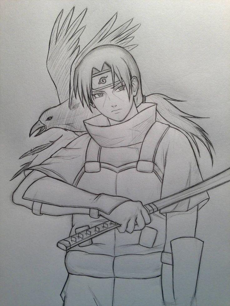 Anbu Ita By Jainanaberrie Naruto Sketch Drawing Itachi Uchiha Art Naruto Sketch