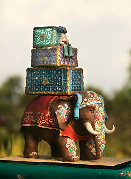 It's a cake.  it's Ganesha.  It's a GANESHA CAKE!  (ps. my birthday is April 15.  Please to have.)