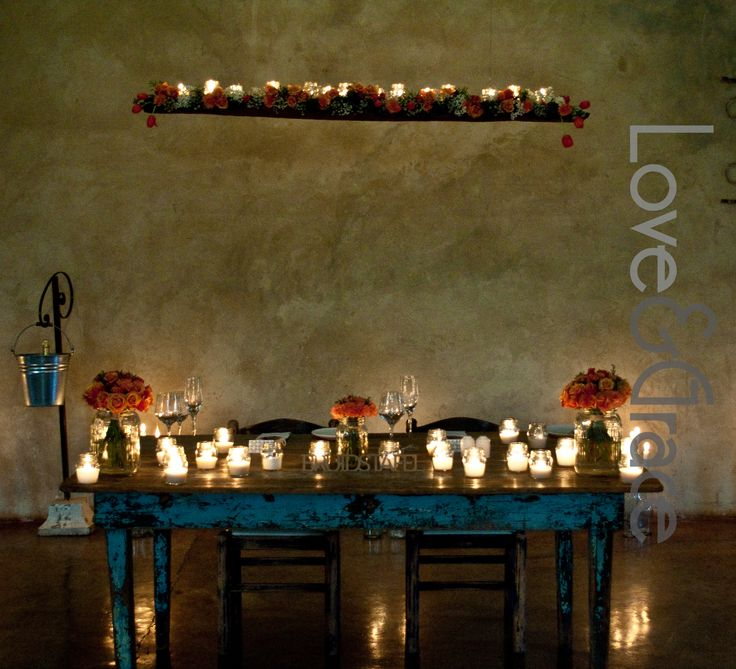 Christoff & Cornelia Coral Colour wedding Bridal Table