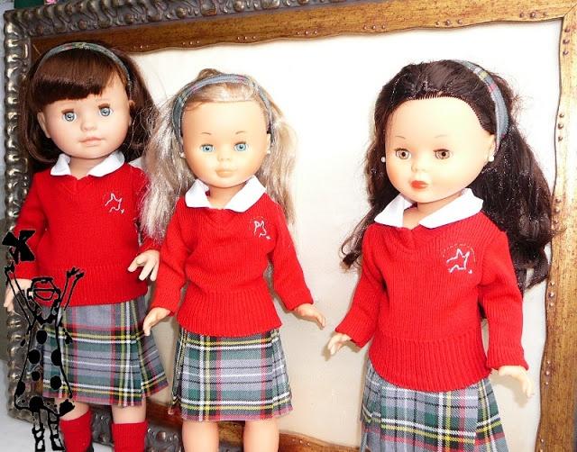 ANILEGRA COSE PARA NANCY: Muñeca MIYO de Paola Reina y NANCY vestidas con el uniforme del colegio