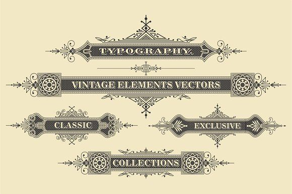 Vintage Vector Elements by G7 on @creativemarket