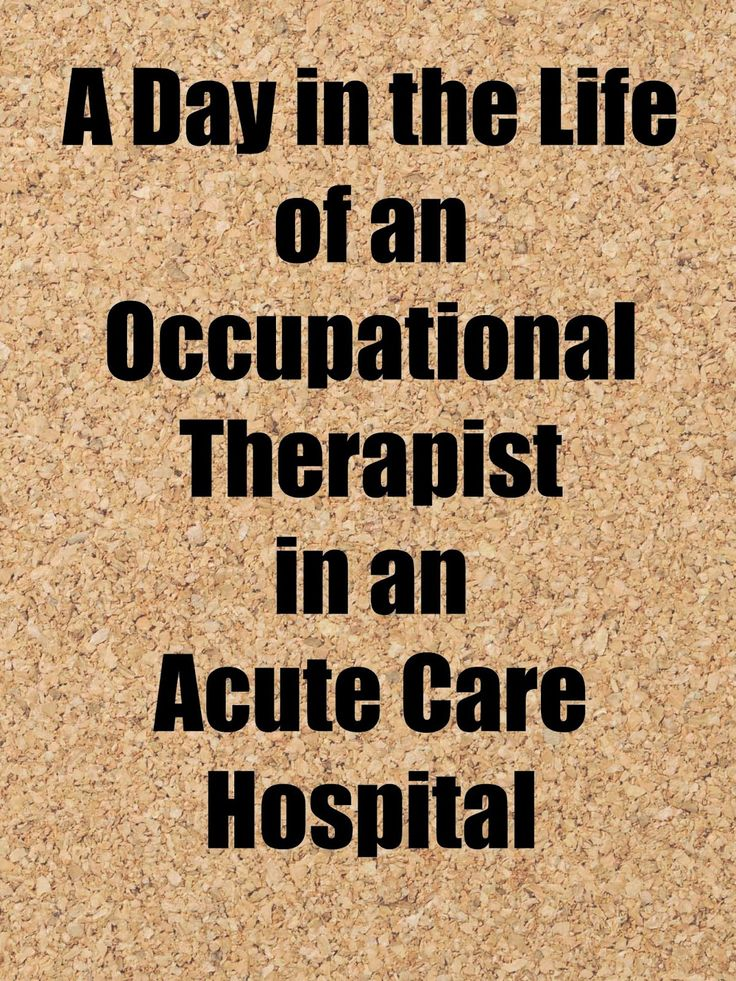 """Here's a little known fact about me: I worked in acute care my first year as an OT. I loved reading this """"day in the life"""" submission, beca..."""
