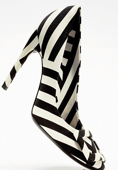 Black and White Stripe Roger Vivier