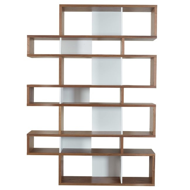 Temahome Walnut And White Tall London Bookcase