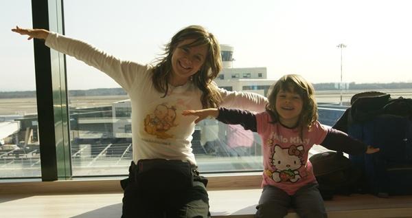 Milly e Amanda in aeroporto!