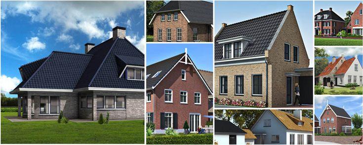 Artist impression vrijstaande woningen collage....