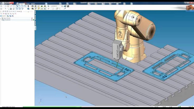 Robotic milling with SprutCAM Robot for Stäubli TX90 by SoliCAD