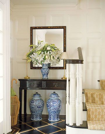 A Blue-and-White Foyer