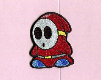 SALE shy guy super mario Iron On Patch
