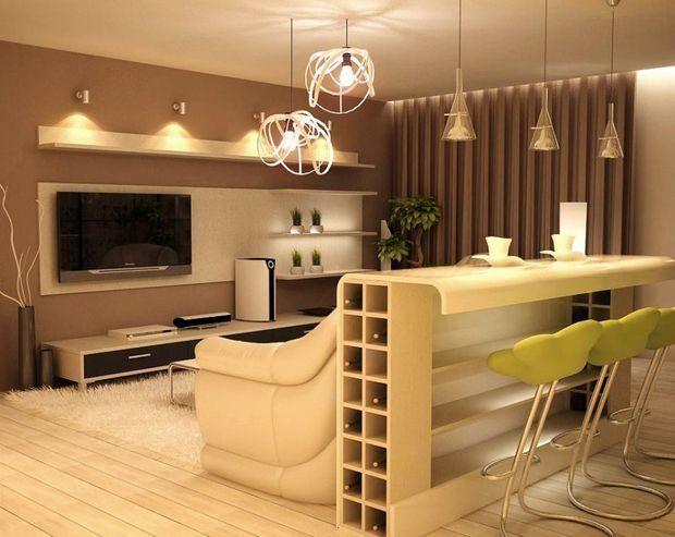 Фотография: в стиле , Кухня и столовая, Гостиная, Декор интерьера, Квартира…