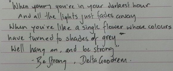 Be Strong, Delta Goodrem